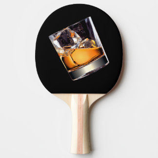 Whisky on the Rocks Ping Pong Paddle