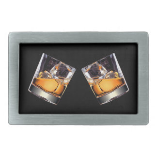 Whisky on the Rocks Rect Belt Buckle