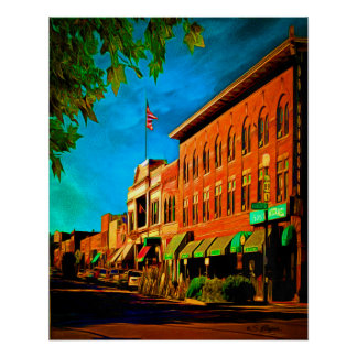 """Whisky Row"" Prescott Arizona Poster"