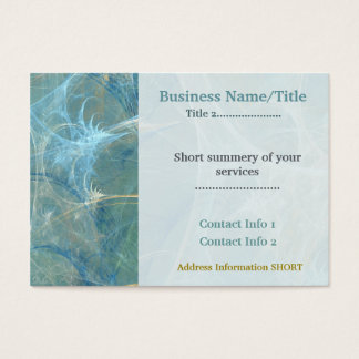 Whisper 3D Abstract Fractal REAL ESTATE ATTORNEY Business Card