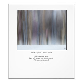 Whisper of Winter Wood Haiku Redux - Open Ed Print Photo