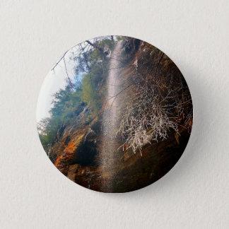 Whispering Falls, Hocking Hills Ohio 6 Cm Round Badge