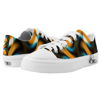 Whispering Golden Waves Printed Shoes