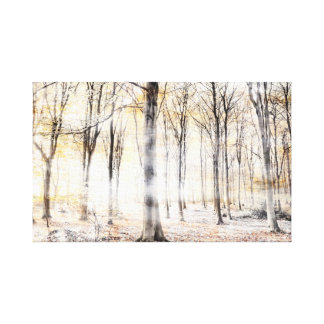 Whispering woodland in autumn fall canvas print