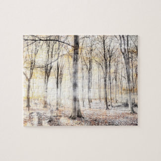 Whispering woodland in autumn fall jigsaw puzzle