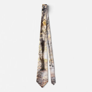 Whispering woodland in autumn fall tie
