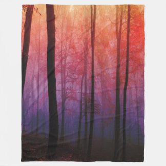 Whispering Woods, Trees Forest Landscape Art Fleece Blanket