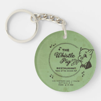 Whistle Pig Restaurant Double-Sided Round Acrylic Key Ring