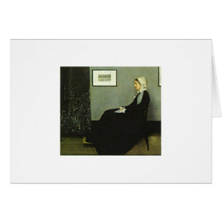 Whistler Arrangement in Grey and Black Note Card
