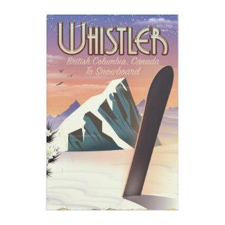 Whistler British Columbia snowboarding poster Acrylic Wall Art