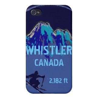 Whistler Canada blue theme ski art iphone case iPhone 4/4S Cover