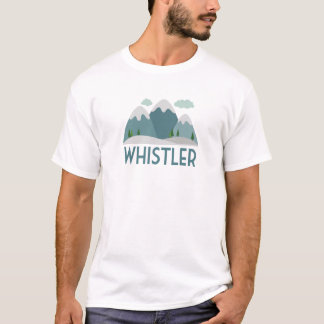 Whistler Ski T-shirt - Skiing Mountain