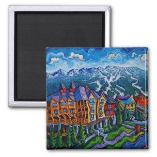 Whistler Village Square Magnet