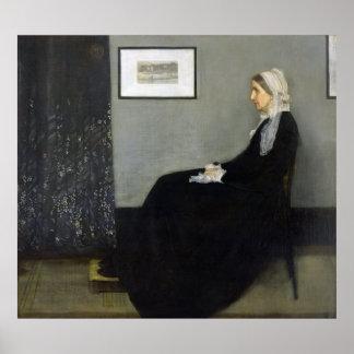 Whistler's Mother by James Abbott McNeill Whistler Poster
