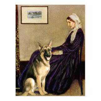 Whistlers Mother - German Shepherd 2 Postcard