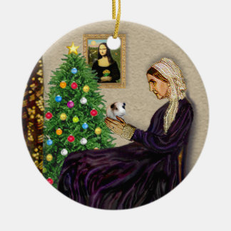 Whistlers Mother & her Guinea Pig Ceramic Ornament