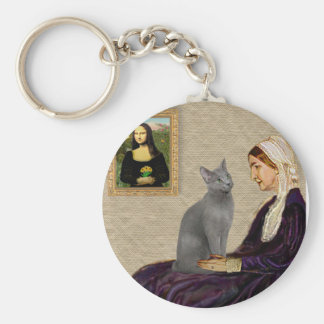 Whistlers Mother - Russian Blue cat Key Ring