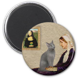 Whistlers Mother - Russian Blue cat Magnet