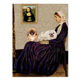 Whistlers Mother - TwoPekingese Postcard