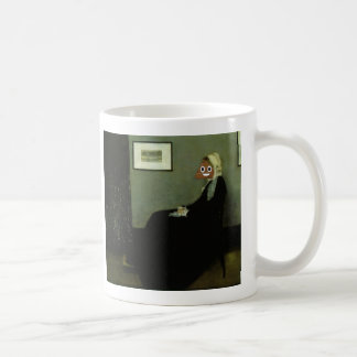Whistler's Mother with Happy Poop Coffee Mug