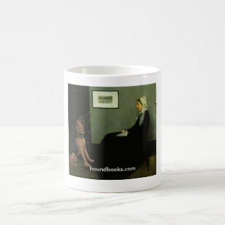 Whistler's Mother With Wimsey the Bloodhound Coffee Mug