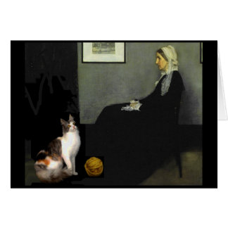 Whistler's Mother's Cat Card