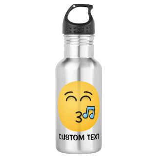 Whistling Face with Smiling Eyes 532 Ml Water Bottle