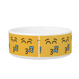 Whistling Face with Smiling Eyes Bowl