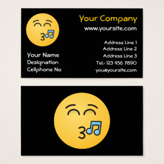Whistling Face with Smiling Eyes Business Card