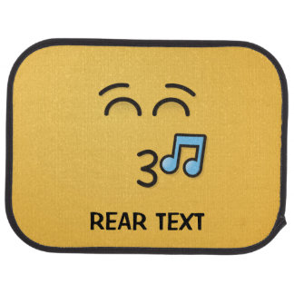 Whistling Face with Smiling Eyes Car Mat