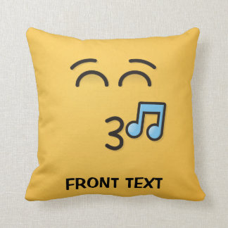 Whistling Face with Smiling Eyes Cushion