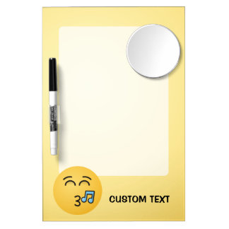 Whistling Face with Smiling Eyes Dry Erase Board With Mirror