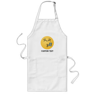 Whistling Face with Smiling Eyes Long Apron