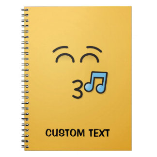 Whistling Face with Smiling Eyes Notebooks