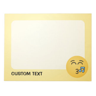 Whistling Face with Smiling Eyes Notepad