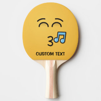Whistling Face with Smiling Eyes Ping Pong Paddle