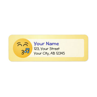 Whistling Face with Smiling Eyes Return Address Label
