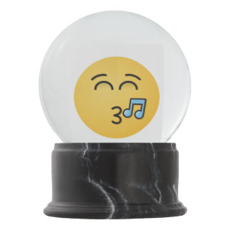 Whistling Face with Smiling Eyes Snow Globe