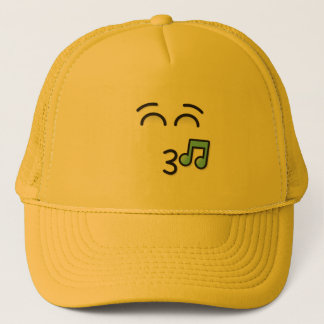 Whistling Face with Smiling Eyes Trucker Hat