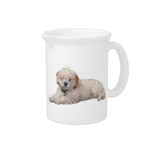 Whit Poodle Pitcher