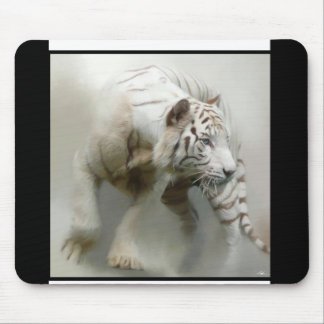 Whit Tiger Mouse Pad