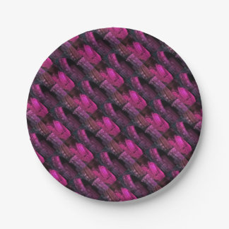 Whitby Abbey at night magenta Gothic arches goth Paper Plate