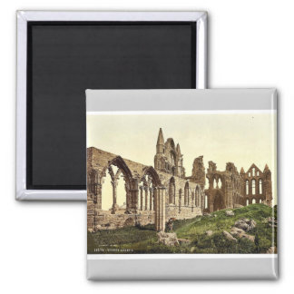 Whitby, the abbey, I., Yorkshire, England rare Pho Square Magnet