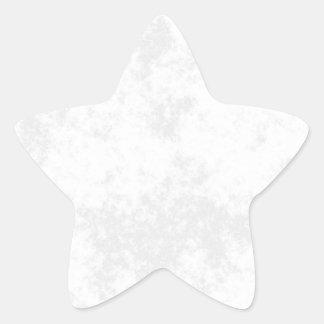 White1 Soft Grunge Design Star Sticker