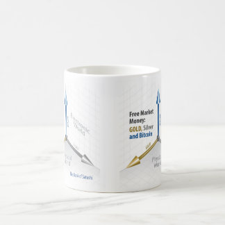White 11 oz Classic White Mug Free Market Money