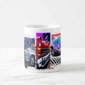 White 11 oz Classic White Mug with Classic Car Art