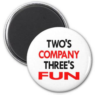 White 2 Company 3 Fun 6 Cm Round Magnet