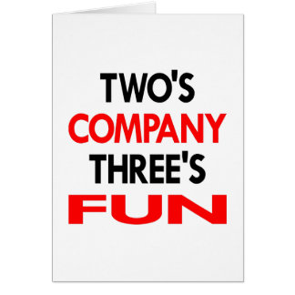 White 2 Company 3 Fun Card