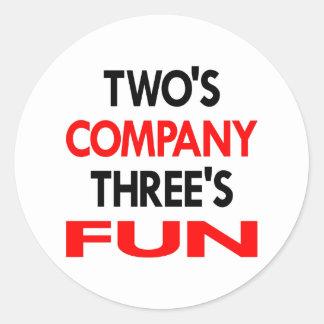 White 2 Company 3 Fun Round Stickers