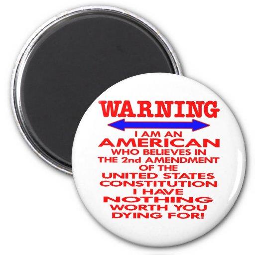 White 2nd Amendment American Magnet